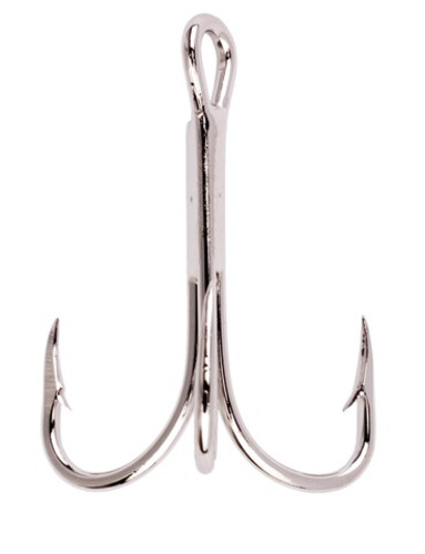 Eagle Claw 375 Nickel Treble Hooks